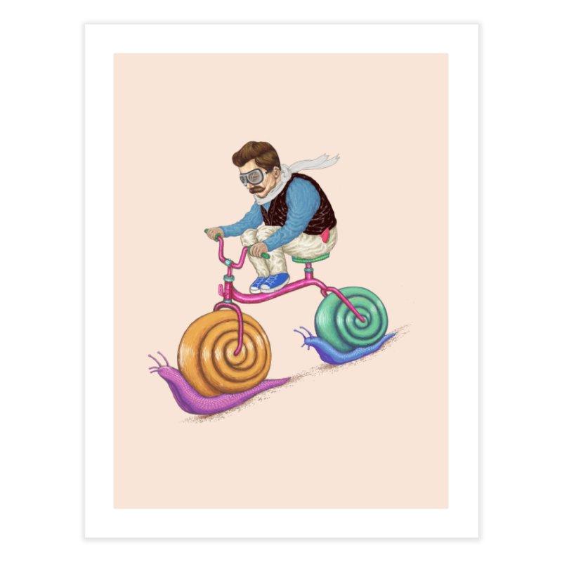 snails bike teen spirit Home Fine Art Print by makapa's Artist Shop