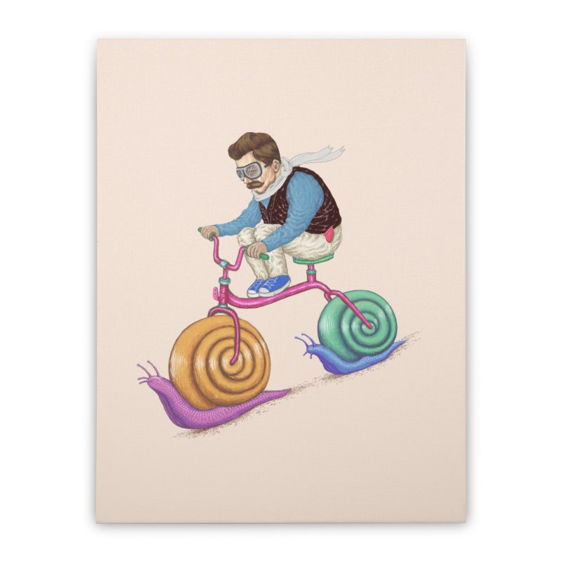 snails bike teen spirit Home Stretched Canvas by makapa's Artist Shop