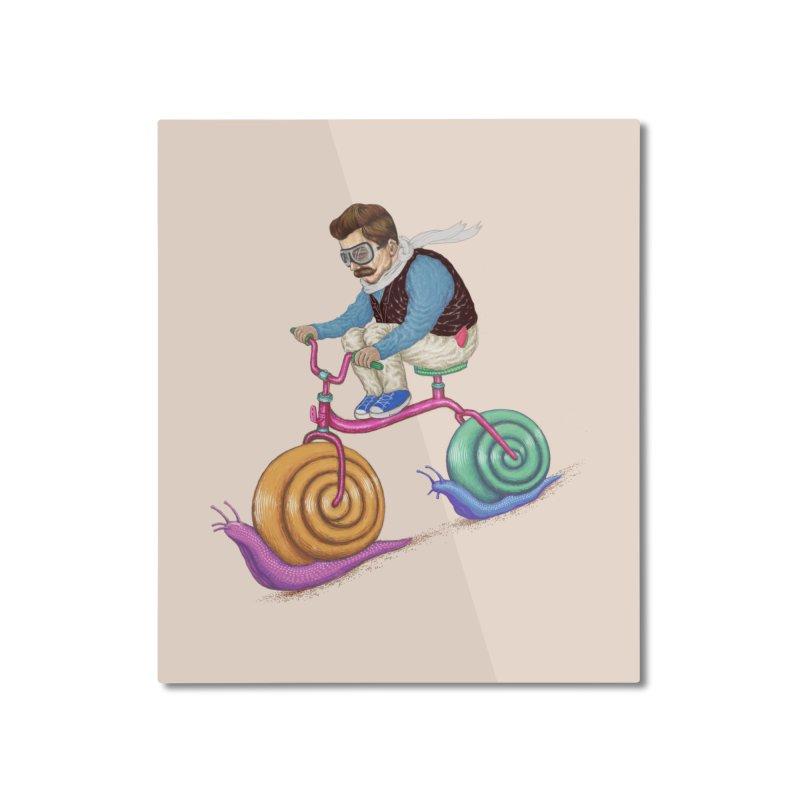 snails bike teen spirit Home Mounted Aluminum Print by makapa's Artist Shop