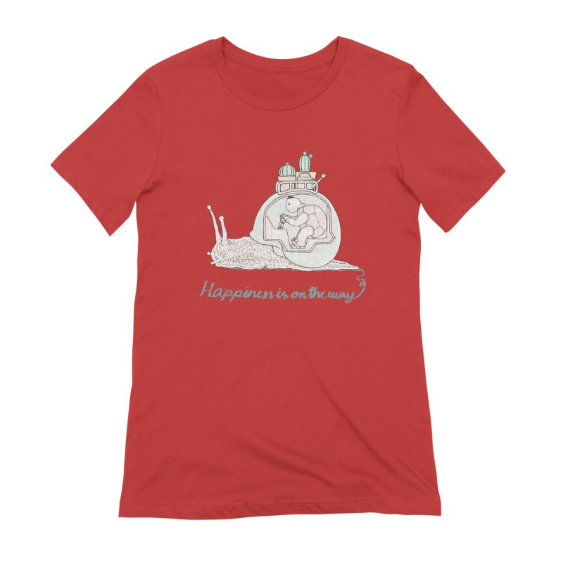 happiness is on the way Women's Extra Soft T-Shirt by makapa's Artist Shop