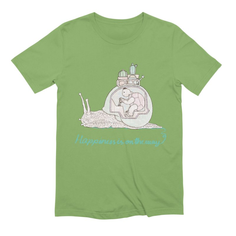 happiness is on the way Men's Extra Soft T-Shirt by makapa's Artist Shop