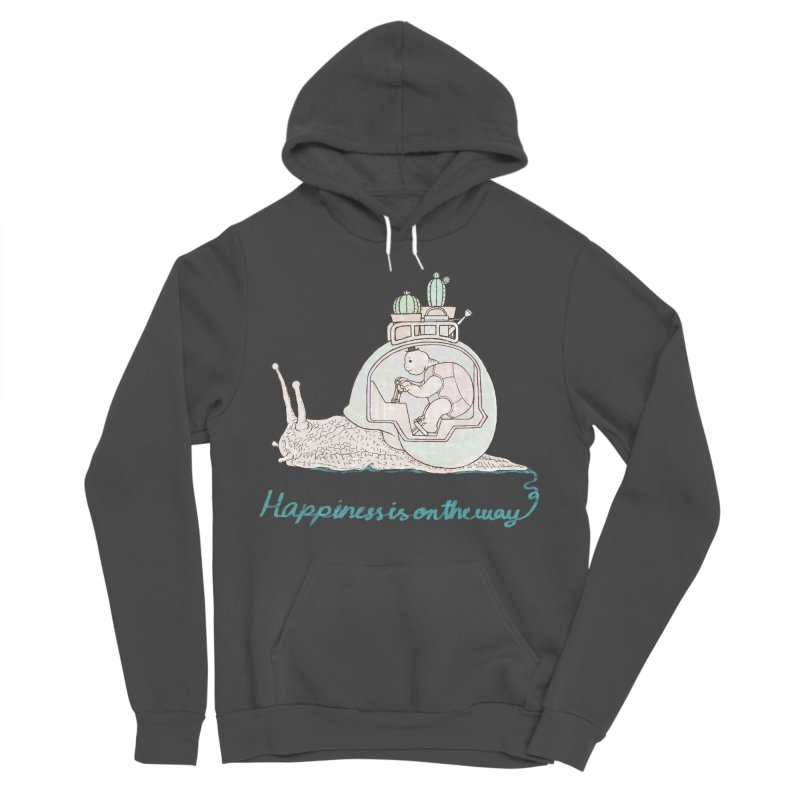 happiness is on the way Men's Sponge Fleece Pullover Hoody by makapa's Artist Shop