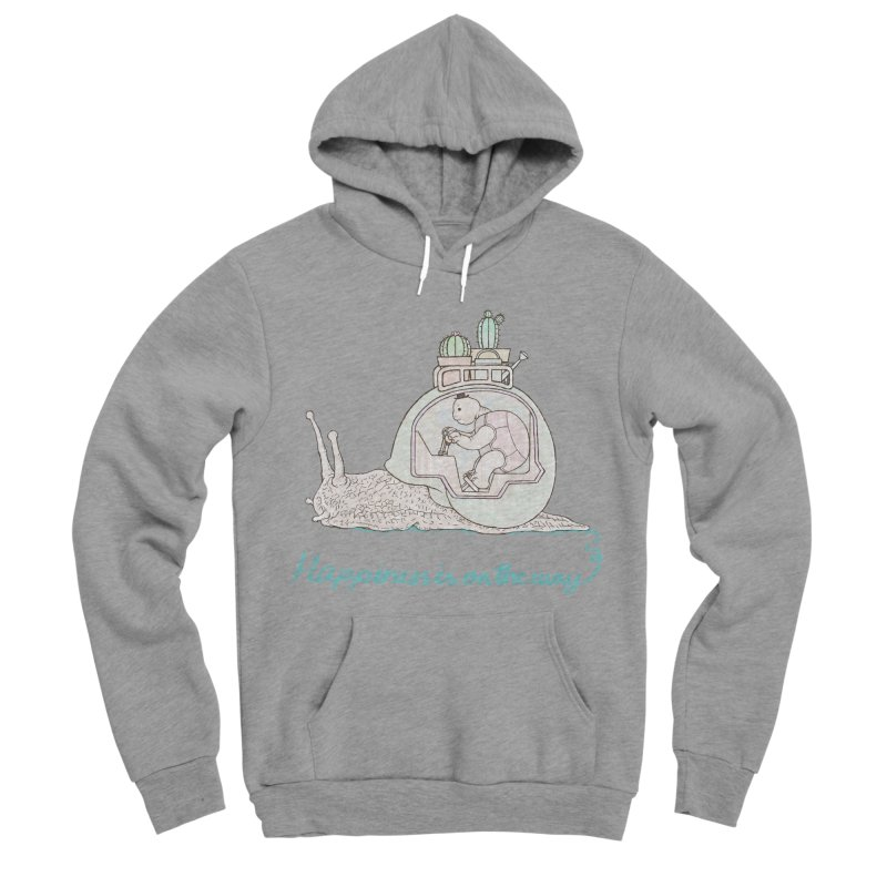 happiness is on the way Men's Sponge Fleece Pullover Hoody by makapa's Artist Shop