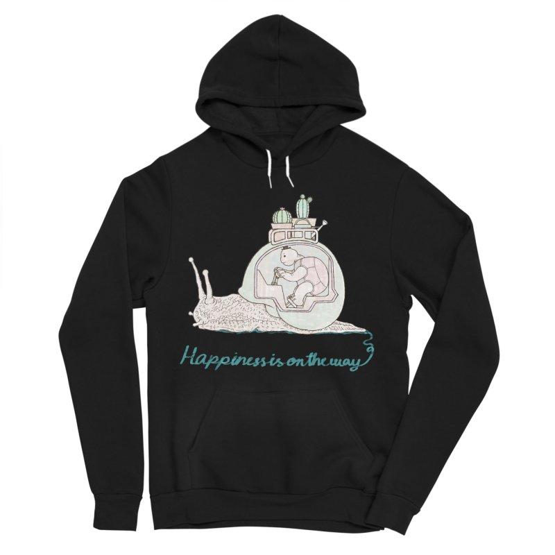 happiness is on the way Women's Sponge Fleece Pullover Hoody by makapa's Artist Shop