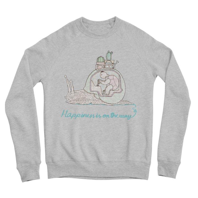 happiness is on the way Men's Sponge Fleece Sweatshirt by makapa's Artist Shop