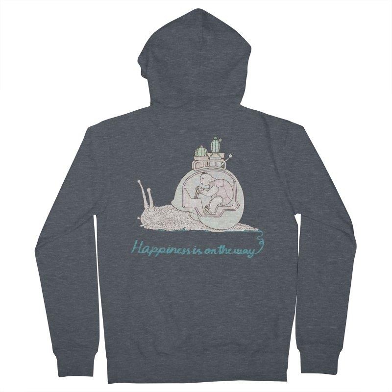 happiness is on the way Men's Zip-Up Hoody by makapa's Artist Shop