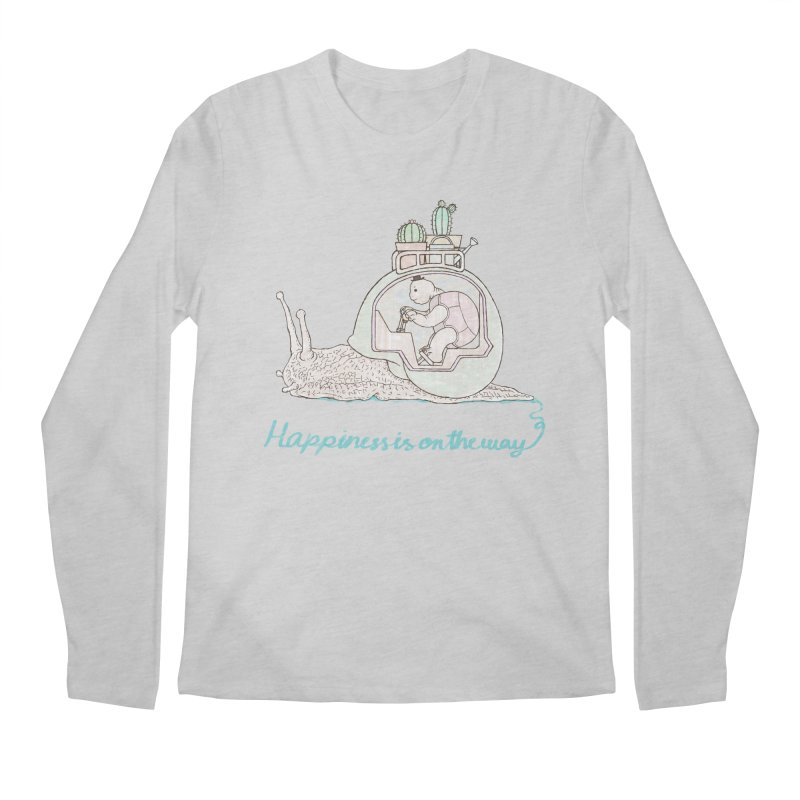 happiness is on the way Men's Longsleeve T-Shirt by makapa's Artist Shop