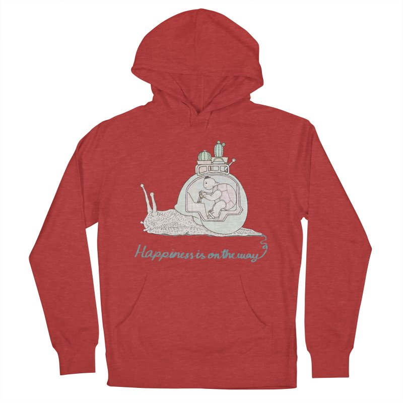 happiness is on the way Women's French Terry Pullover Hoody by makapa's Artist Shop