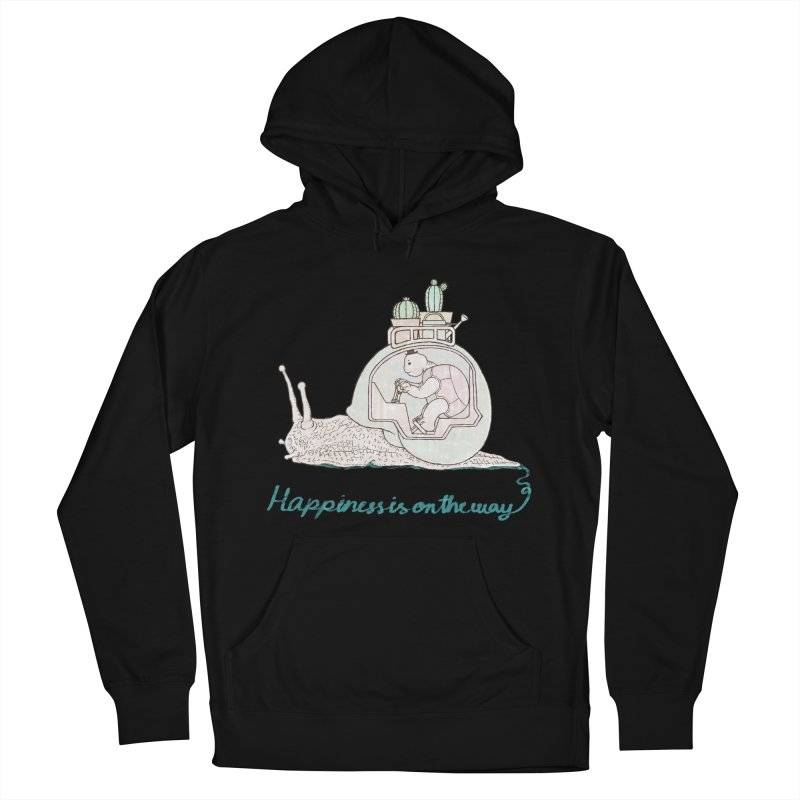 happiness is on the way Men's French Terry Pullover Hoody by makapa's Artist Shop