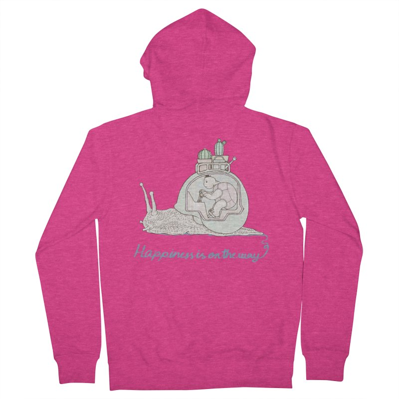 happiness is on the way Women's French Terry Zip-Up Hoody by makapa's Artist Shop