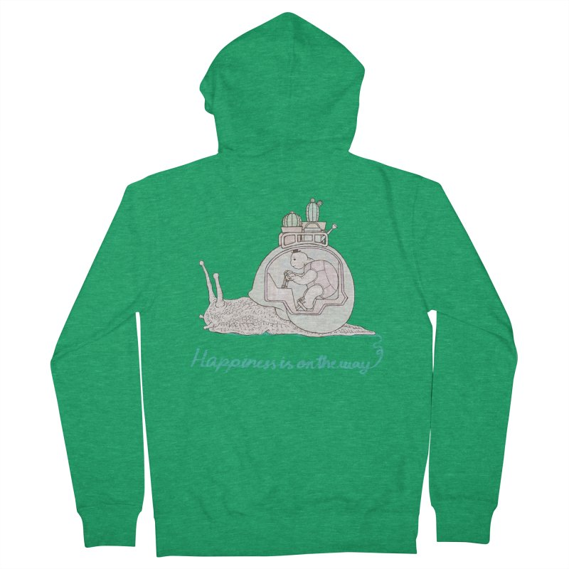 happiness is on the way Men's Zip-Up Hoody by makapa's Artist Shop