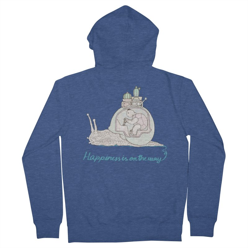 happiness is on the way Men's French Terry Zip-Up Hoody by makapa's Artist Shop