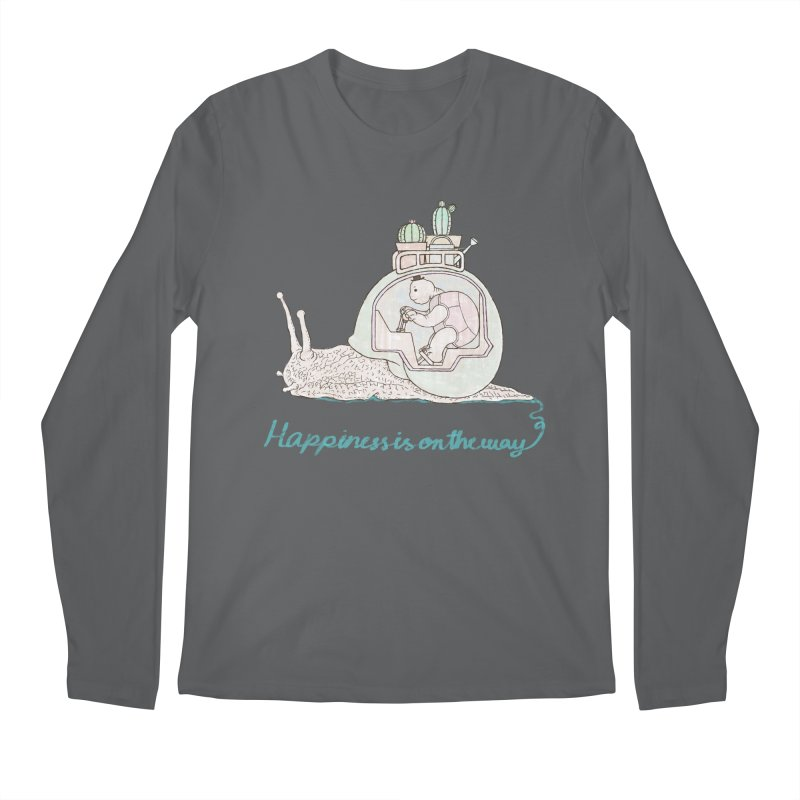 happiness is on the way Men's Longsleeve T-Shirt by makapa's Artist Shop