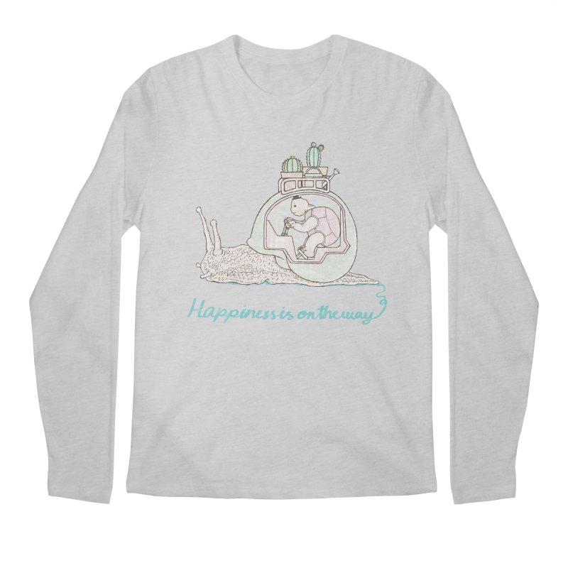happiness is on the way Men's Regular Longsleeve T-Shirt by makapa's Artist Shop