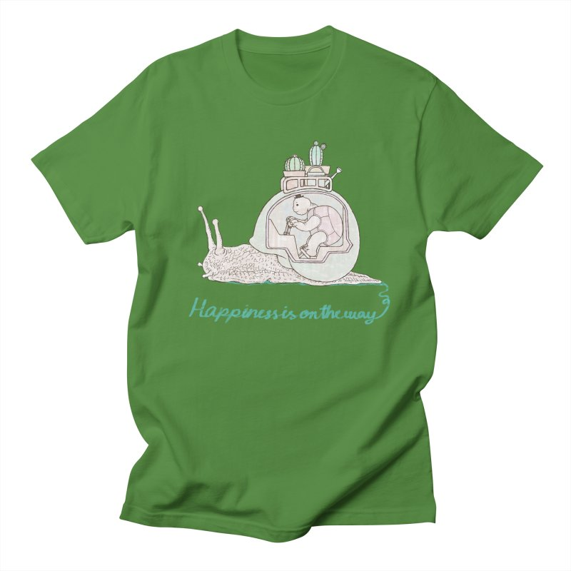 happiness is on the way Men's T-Shirt by makapa's Artist Shop