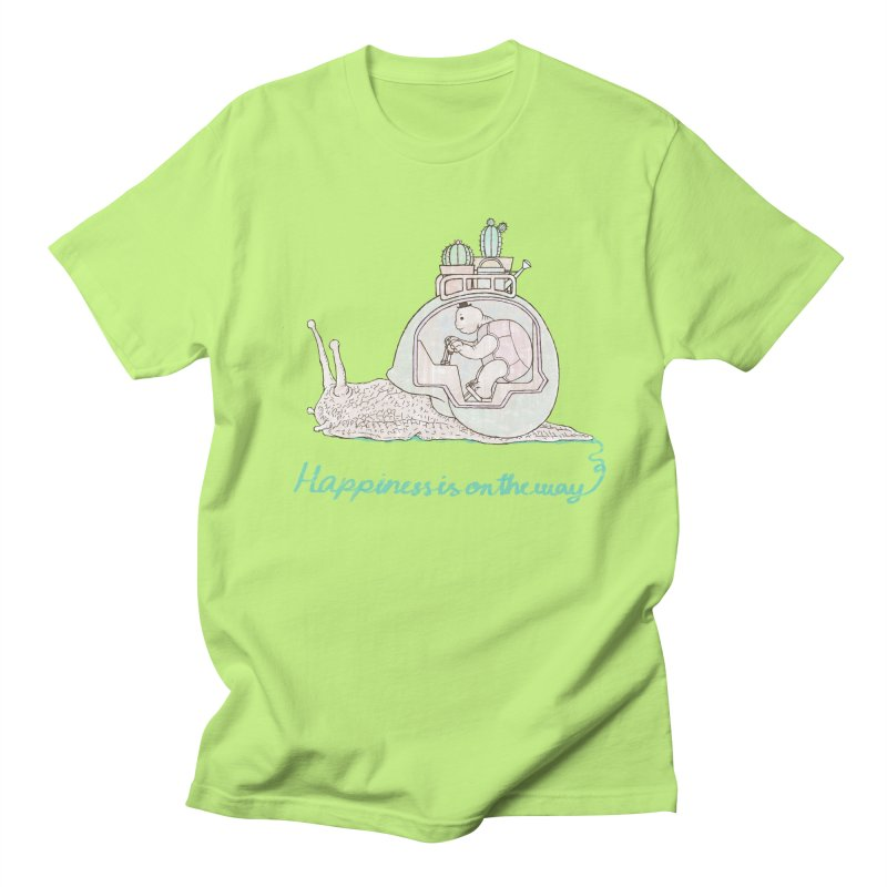 happiness is on the way Women's Regular Unisex T-Shirt by makapa's Artist Shop