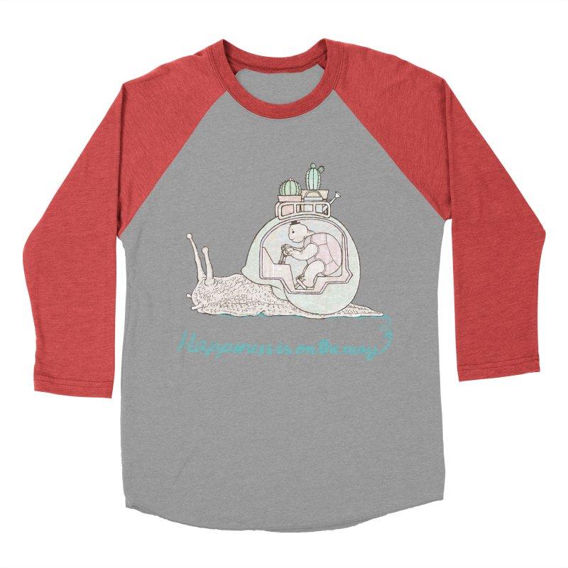 happiness is on the way Men's Baseball Triblend Longsleeve T-Shirt by makapa's Artist Shop