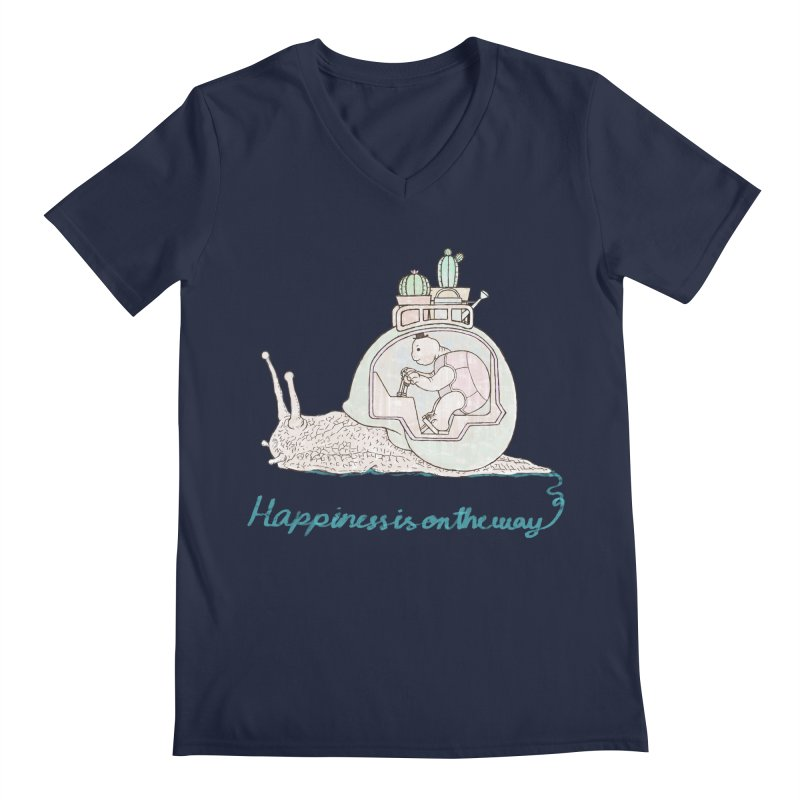happiness is on the way Men's V-Neck by makapa's Artist Shop