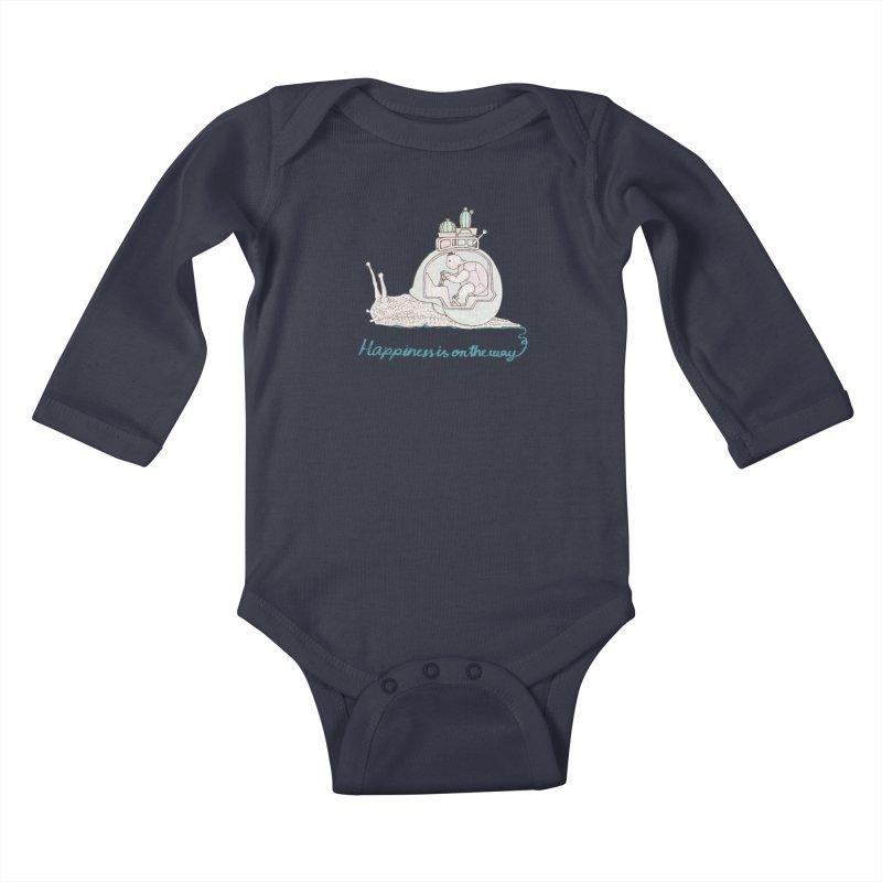 happiness is on the way Kids Baby Longsleeve Bodysuit by makapa's Artist Shop