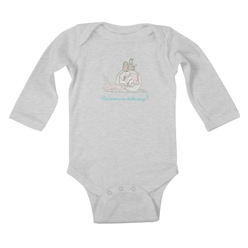 happiness is on the way Kids Baby Longsleeve Bodysuit by makapa's Artist Shop