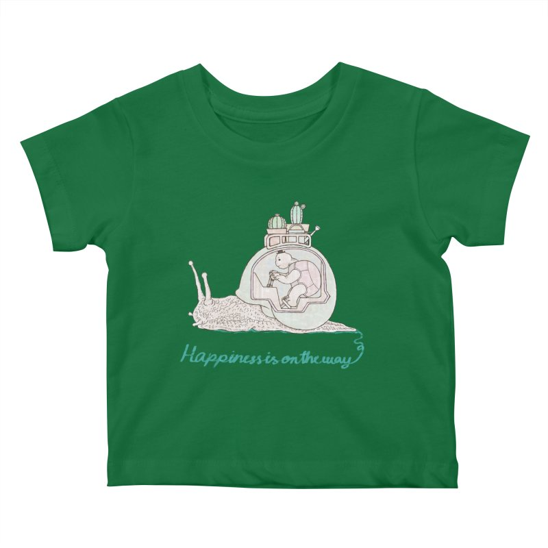 happiness is on the way Kids Baby T-Shirt by makapa's Artist Shop