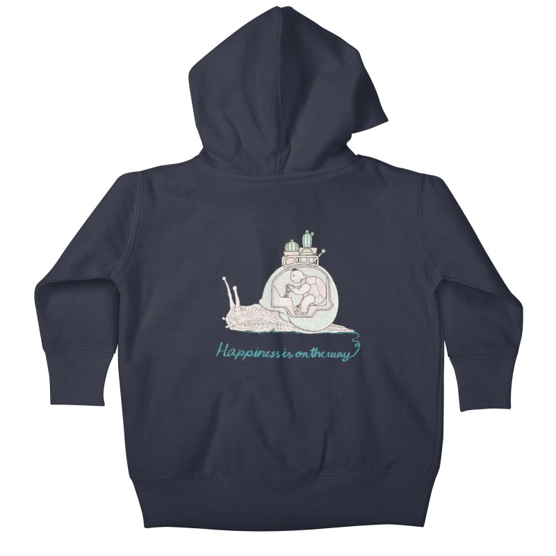 happiness is on the way Kids Baby Zip-Up Hoody by makapa's Artist Shop