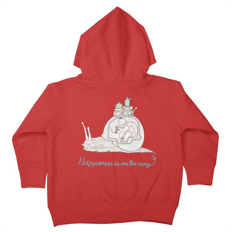 happiness is on the way Kids Toddler Zip-Up Hoody by makapa's Artist Shop