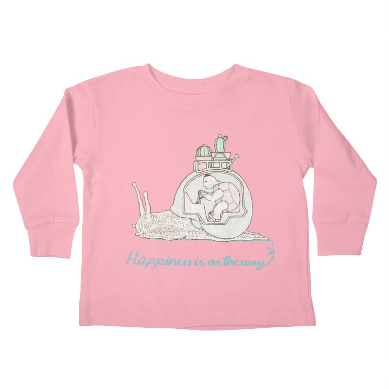 happiness is on the way Kids Toddler Longsleeve T-Shirt by makapa's Artist Shop