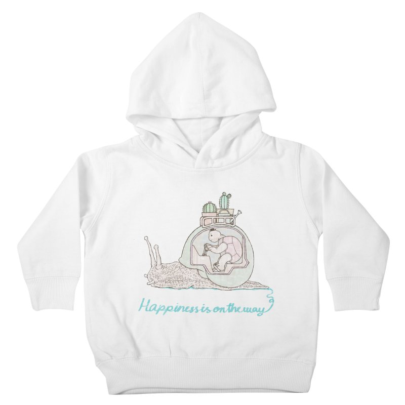 happiness is on the way Kids Toddler Pullover Hoody by makapa's Artist Shop
