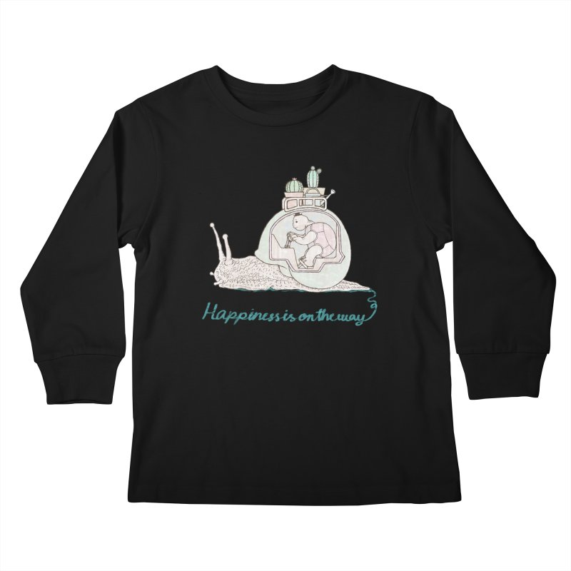 happiness is on the way Kids Longsleeve T-Shirt by makapa's Artist Shop