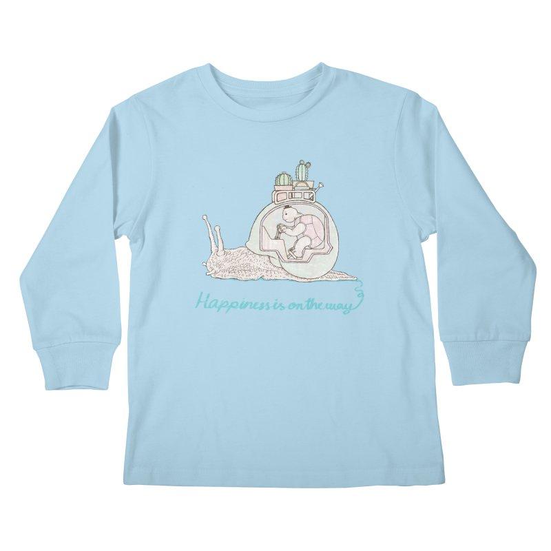 happiness is on the way Kids Longsleeve T-Shirt by makapa's Artist Shop