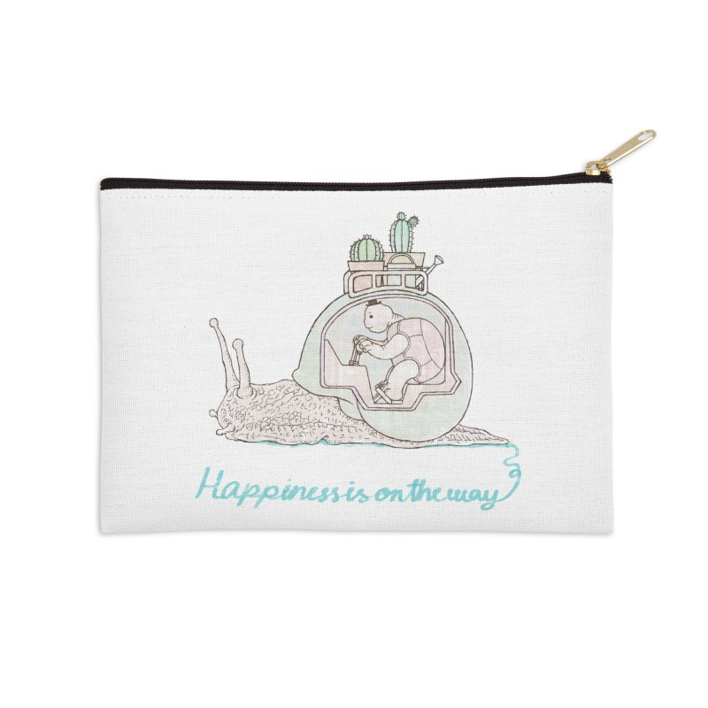 happiness is on the way Accessories Zip Pouch by makapa's Artist Shop