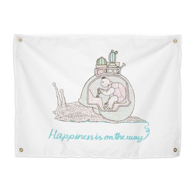 happiness is on the way Home Tapestry by makapa's Artist Shop