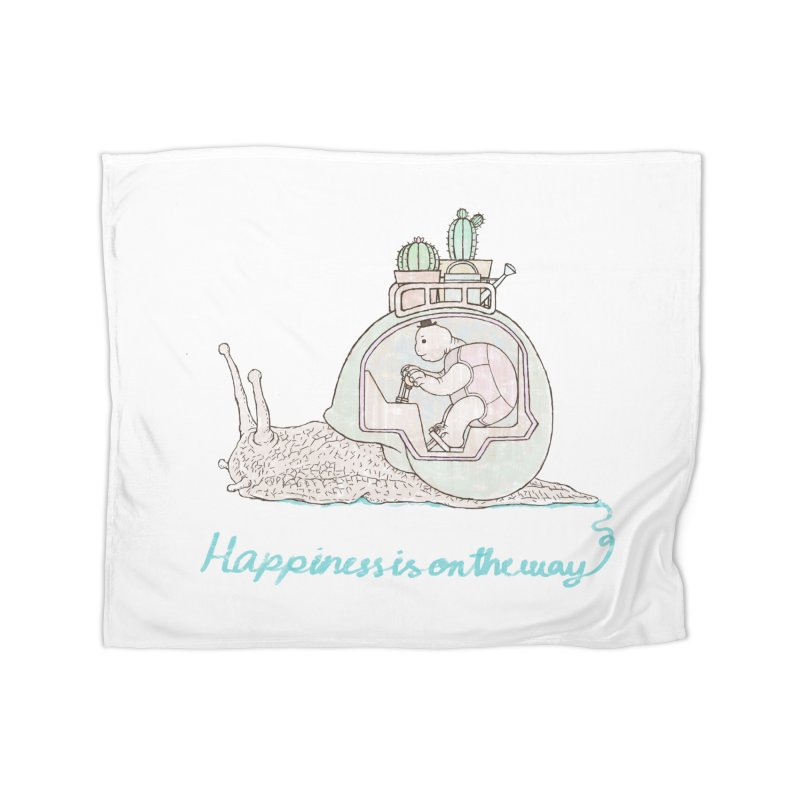 happiness is on the way Home Fleece Blanket Blanket by makapa's Artist Shop