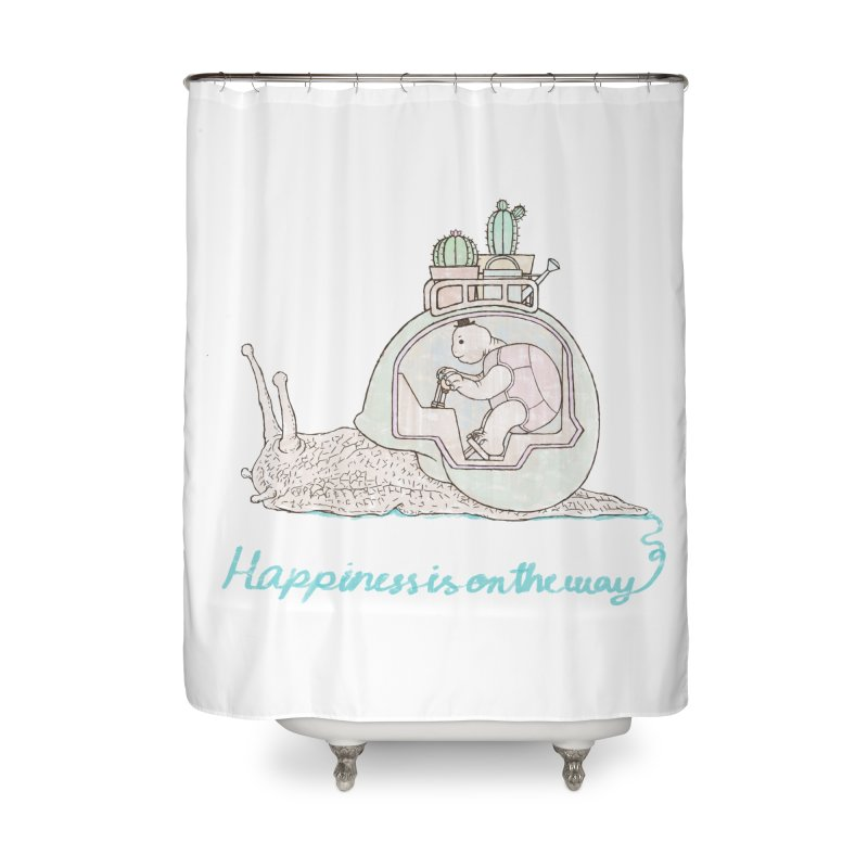 happiness is on the way Home Shower Curtain by makapa's Artist Shop