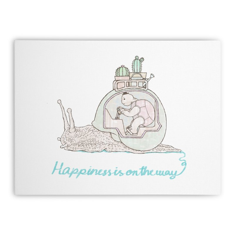 happiness is on the way Home Stretched Canvas by makapa's Artist Shop