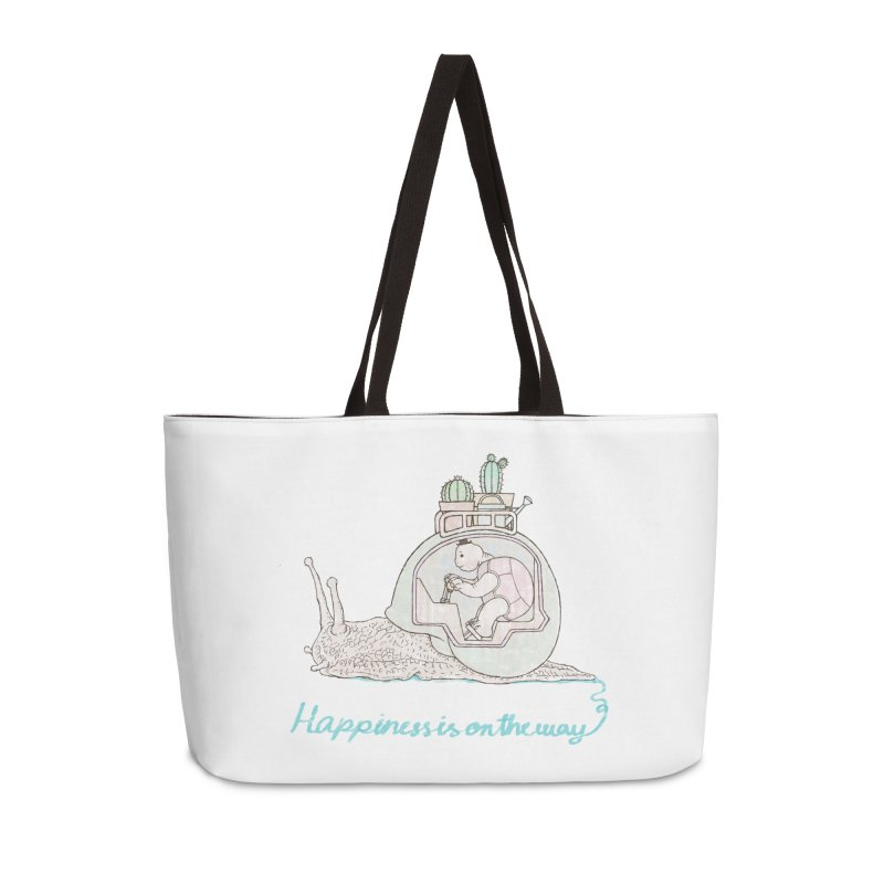 happiness is on the way Accessories Weekender Bag Bag by makapa's Artist Shop