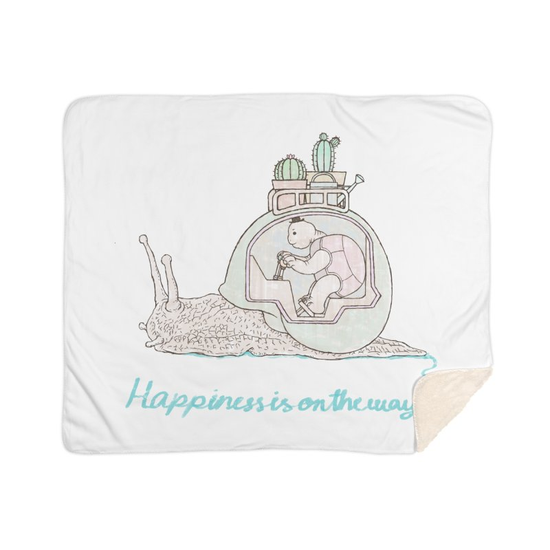 happiness is on the way Home Sherpa Blanket Blanket by makapa's Artist Shop