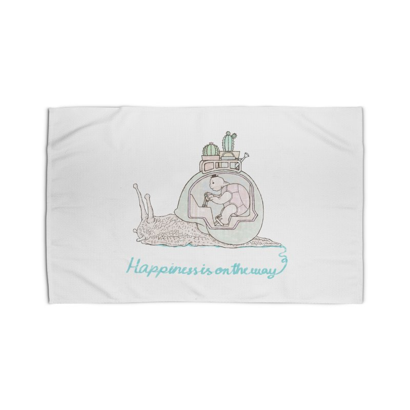 happiness is on the way Home Rug by makapa's Artist Shop
