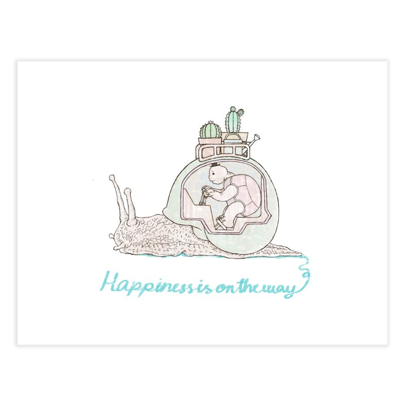 happiness is on the way Home Fine Art Print by makapa's Artist Shop