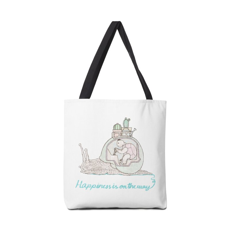 happiness is on the way Accessories Bag by makapa's Artist Shop