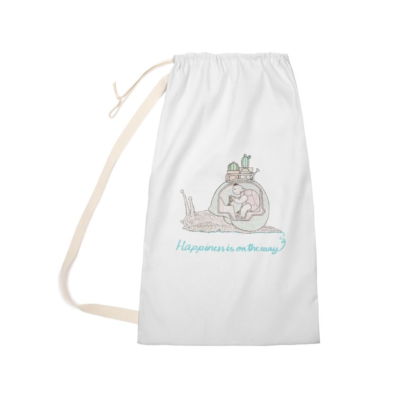 happiness is on the way Accessories Laundry Bag Bag by makapa's Artist Shop
