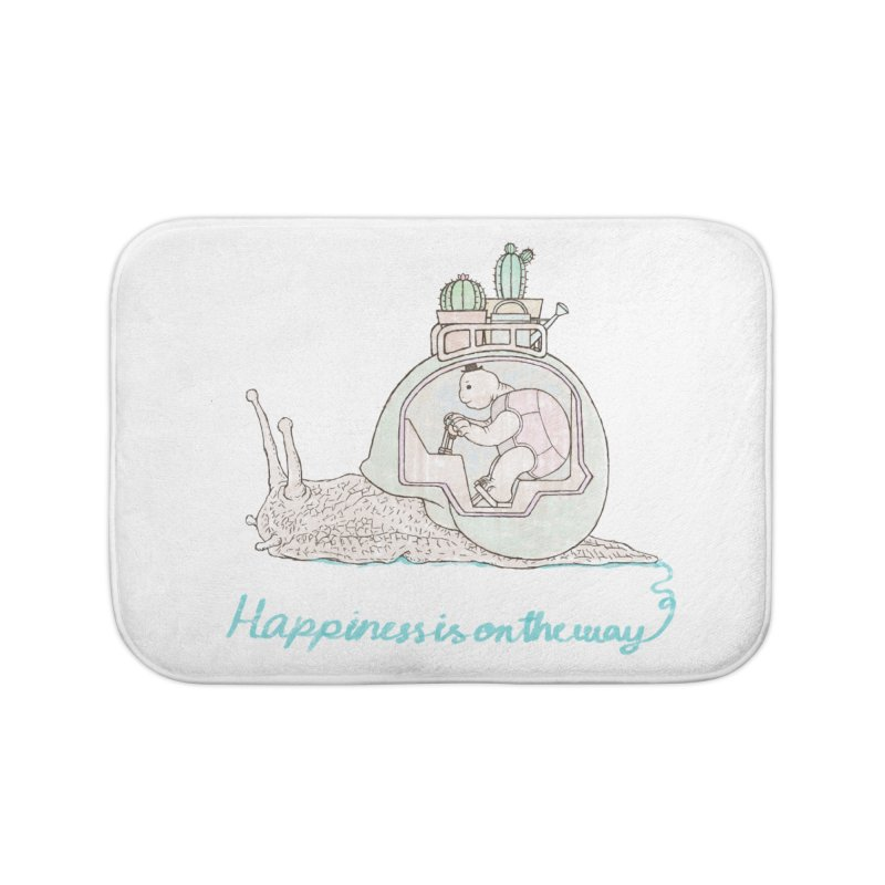 happiness is on the way Home Bath Mat by makapa's Artist Shop