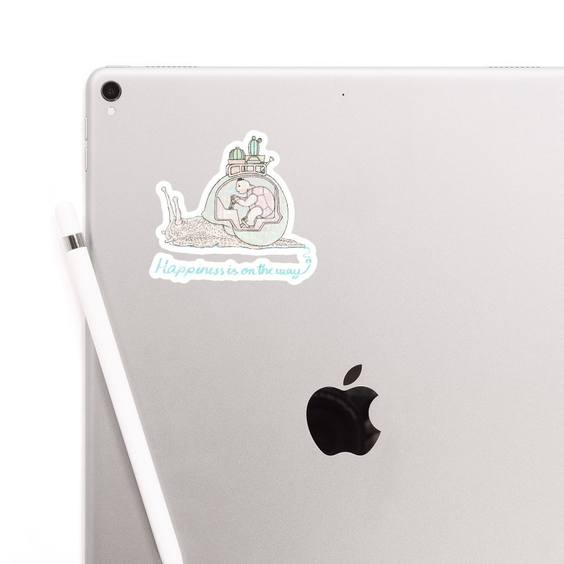 happiness is on the way Accessories Sticker by makapa's Artist Shop