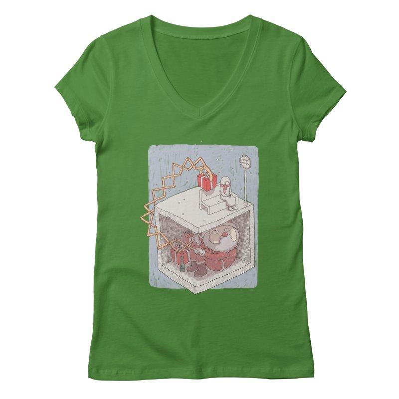 magic gift Women's V-Neck by makapa's Artist Shop