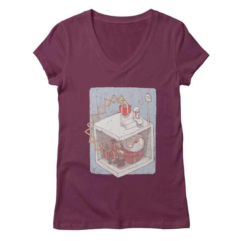 magic gift Women's V-Neck by makapa's Artist Shop