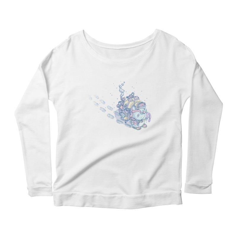 in my way Women's Scoop Neck Longsleeve T-Shirt by makapa's Artist Shop