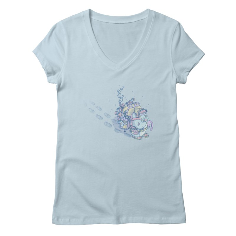 in my way Women's Regular V-Neck by makapa's Artist Shop