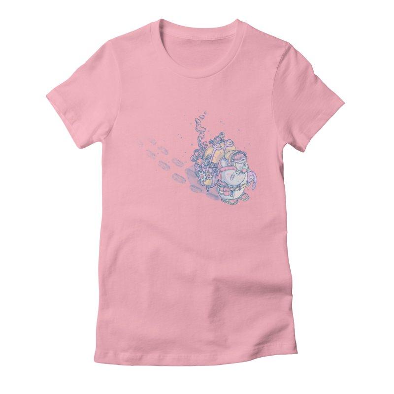 in my way Women's Fitted T-Shirt by makapa's Artist Shop