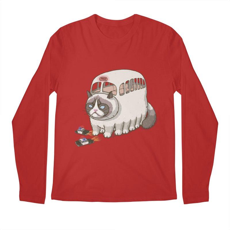 grumpy bus Men's Longsleeve T-Shirt by makapa's Artist Shop